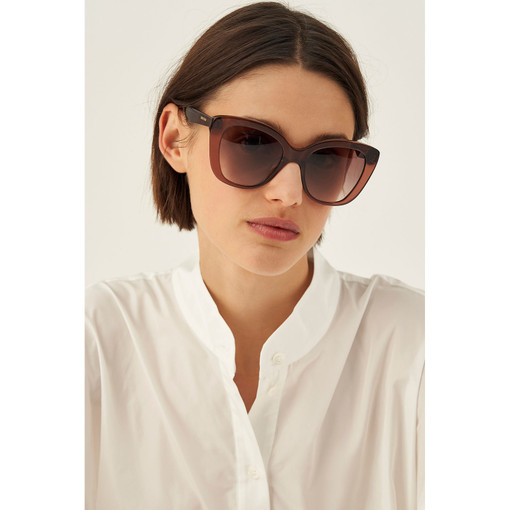 Oroton Piper Sunglasses in Coco Crystal and Acetate for female