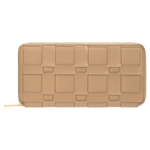 Oroton Jerome Woven Slim Book Wallet in Khaki and Smooth Leather for female
