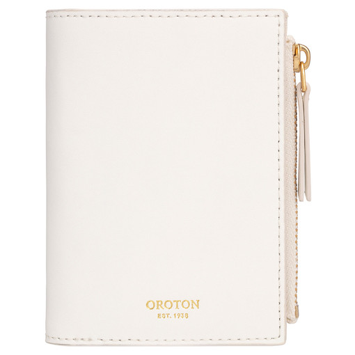 Oroton Klara Mini 10 Credit Card Zip Wallet in White and Smooth Leather for female