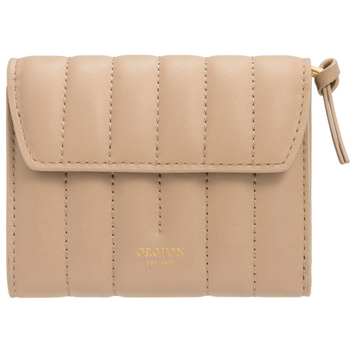 Oroton Fay Tri Fold Zip Wallet in Dark Praline and Nappa Leather for female