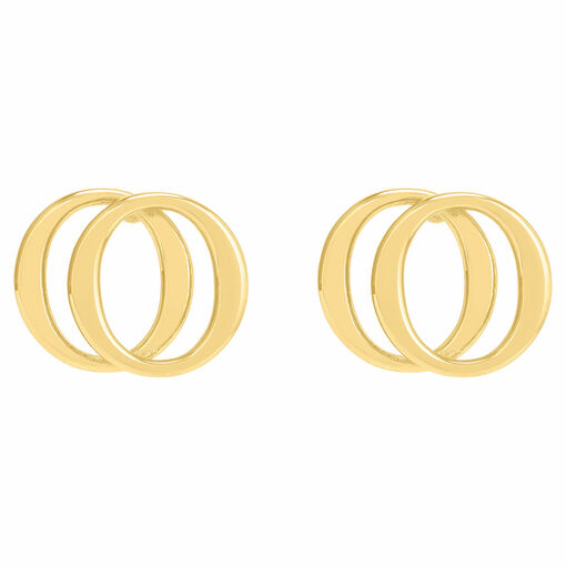 Oroton Elsie Double Studs in Gold and Brass Base Metal With Precious Metal Plating for female