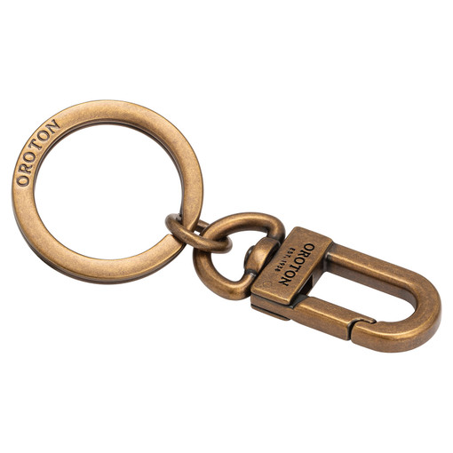 Oroton Robin Clip Keyring in Antigue Brass and Metal for male