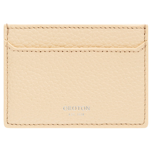 Oroton Anna Credit Card Sleeve in Honey and Pebble Leather for female