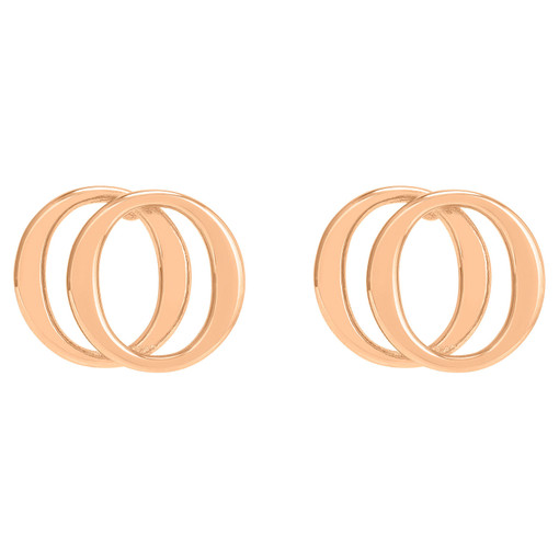 Oroton Elsie Double Studs in Rose Gold and Brass Base Metal With Precious Metal Plating for female