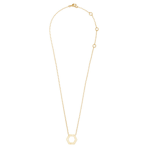 Oroton Atlas Necklace in Gold and Brass Base Metal With Precious Metal Plating for female