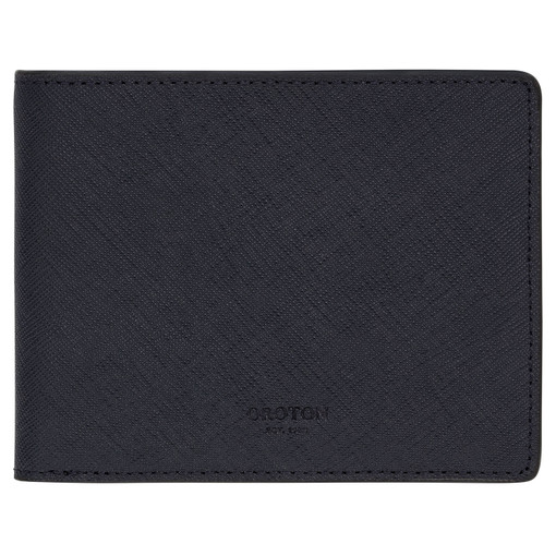 Oroton Hugo 8 Credit Card Zip Wallet in Ink and Saffiano Leather for male