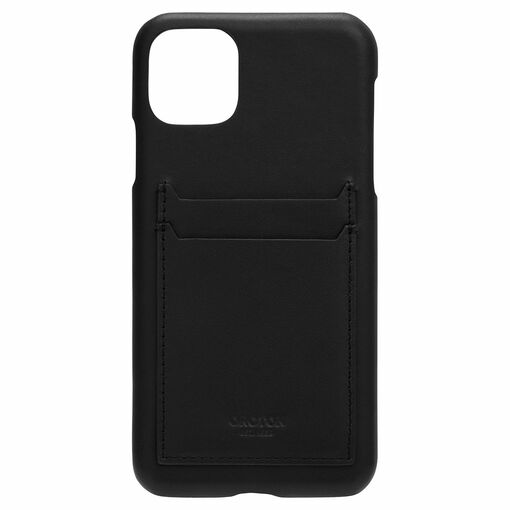 Oroton Robin IPhone 11 Pro Max 2 Credit Card Cover in Black and Smooth Leather for male