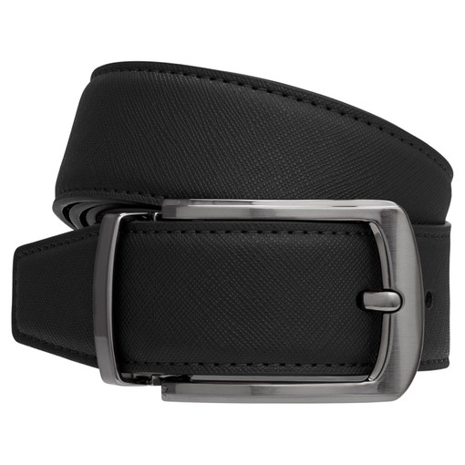 Oroton Bradford Reversible Belt in Black/Choc and Saffiano Leather for male