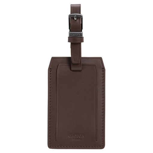 Oroton Robin Passport Cover And Luggage Tag in Cedar and Smooth Leather for male