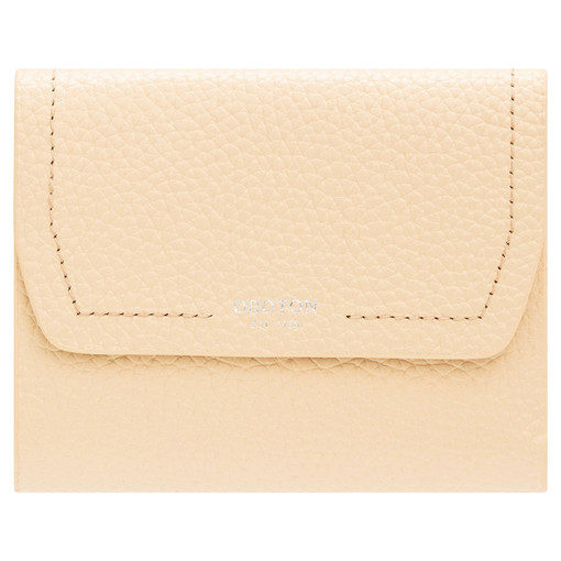 Oroton Anna Tri Fold Zip Wallet in Honey and Pebble Leather for female