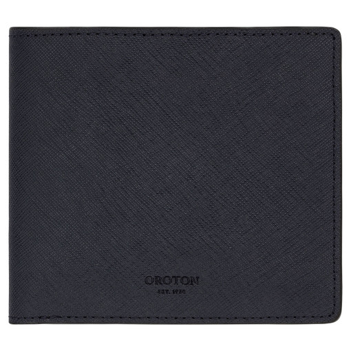 Oroton Hugo 8 Credit Card Square Wallet in Ink and Saffiano Leather for male