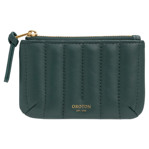 Oroton Fay Small Pouch in Fern Green and Nappa Leather for female