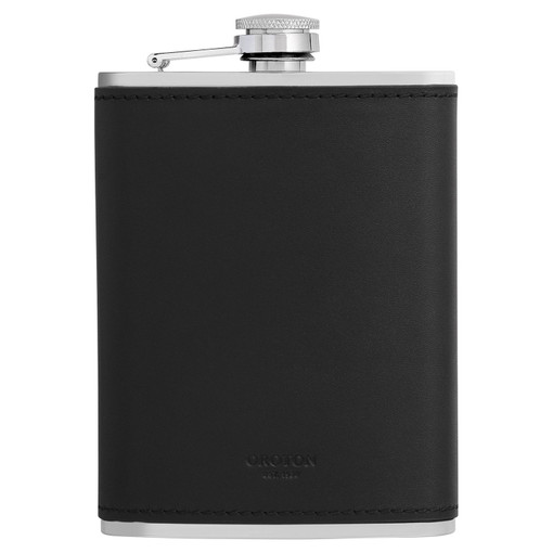 Oroton Robin Flask in Black and Smooth Leather for male