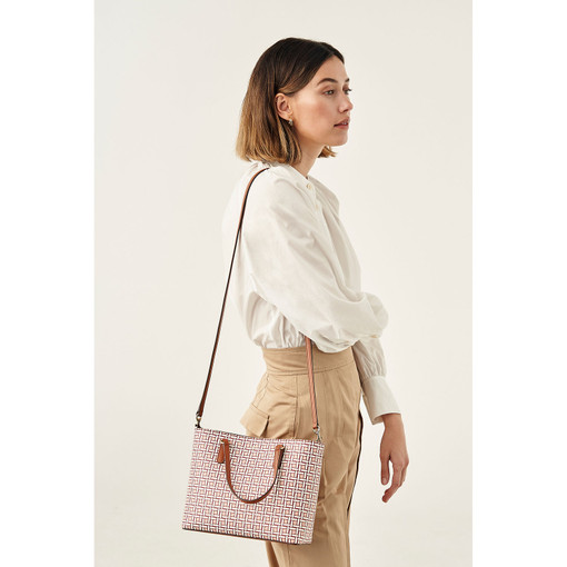Oroton Harriet Mini Tote in Pink Musk Mix and Saffiano Leather for female
