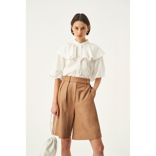 Oroton Leather Short in Deep Latte and 100% Leather for female
