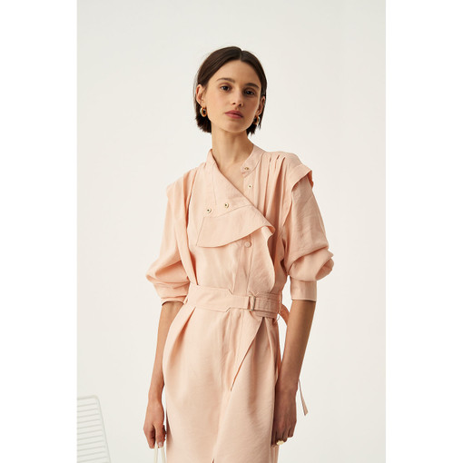Oroton Fluid Dress in Dusty Peach and 75% Viscose 25% Polyester for female