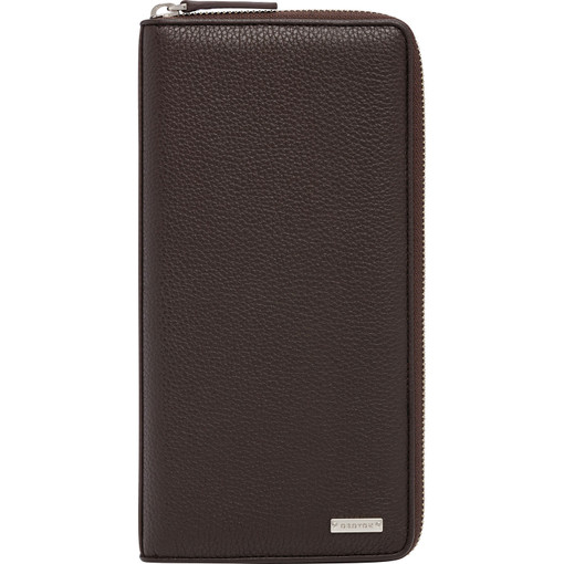 Oroton Finn Travel Wallet in Chocolate and null for male
