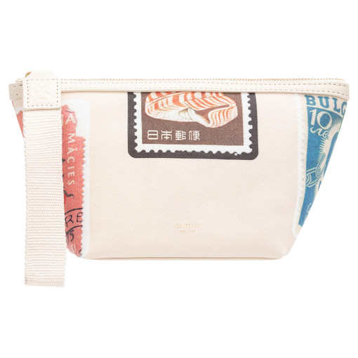 Oroton Fred Medium Beauty Case in Stamp Print and Coated Canvas/Smooth Leather for female