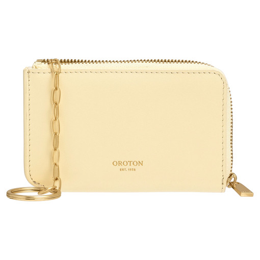 Oroton Charlie Key Holder in Lemon Curd and Smooth Leather for female