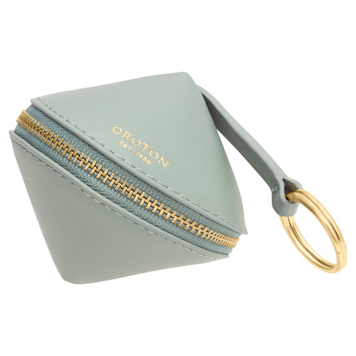 Oroton Charlie Diamond Key Ring in Sage and Smooth Leather for female