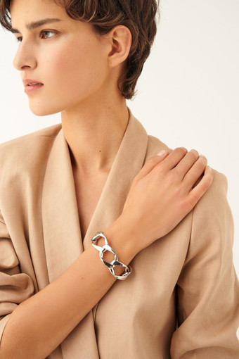 Oroton Aubrey Bracelet in Silver and Brass Base Metal With Precious Metal Plating for female