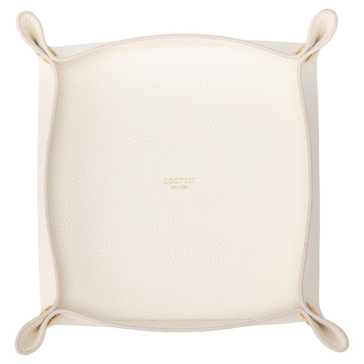 Oroton Jude Large Organiser in Pure White and Pebble Leather for female