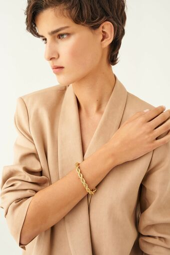 Oroton Luna Thin Bracelet in Gold and null for female
