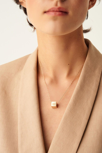 Oroton Cuba Simple Necklace in Gold and Brass Based Metal With Precious Metal Plating for female