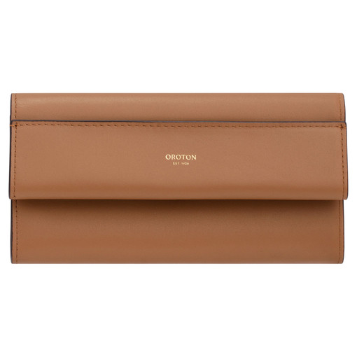 Oroton Aimee High Fold Wallet in Dark Rye and Smooth Leather for female