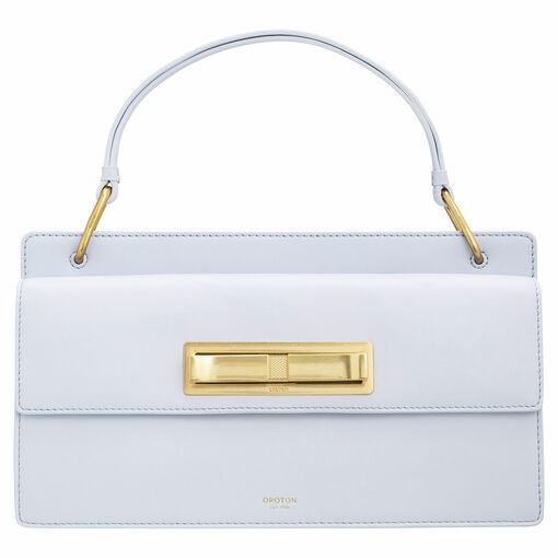 Oroton Luna Day Bag in Sky Blue and Smooth Leather for female