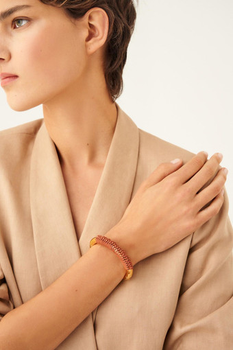 Oroton Pelle Bangle in Umber/Gold and null for female