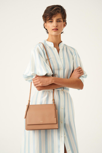 Oroton Alexis Crossbody in Cedar Wood and Smooth Leather for female