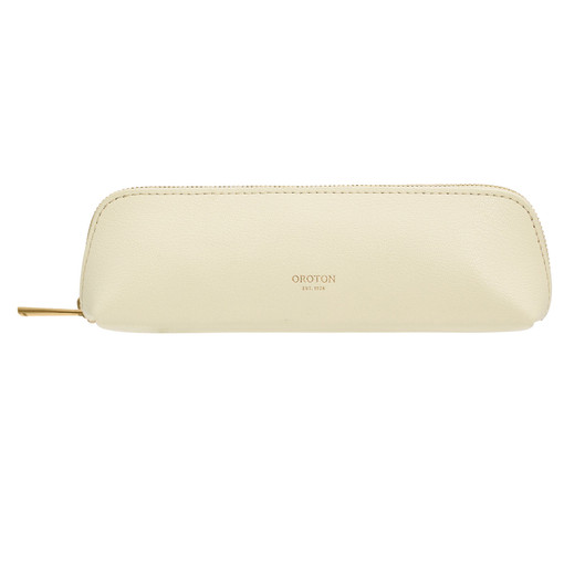 Oroton Avani Pencil Case in Pale Lemon and 60% off-cut leather fibres, 30% vegetable origin, 10% synthetic for female