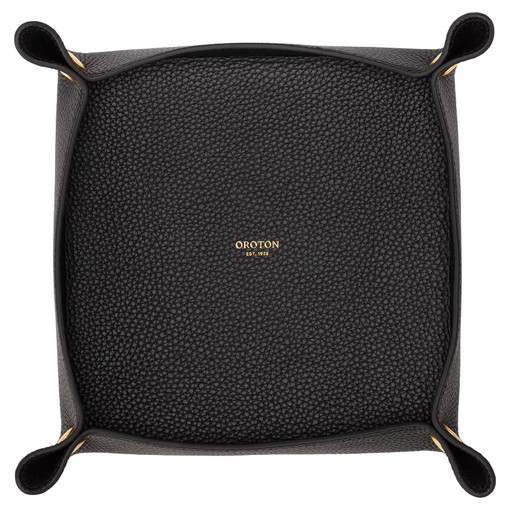 Oroton Jude Large Organiser in Black and Pebble Leather for female