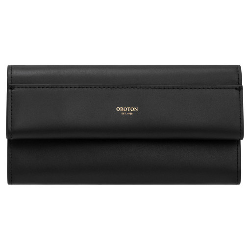 Oroton Aimee High Fold Wallet in Black and Smooth Leather for female