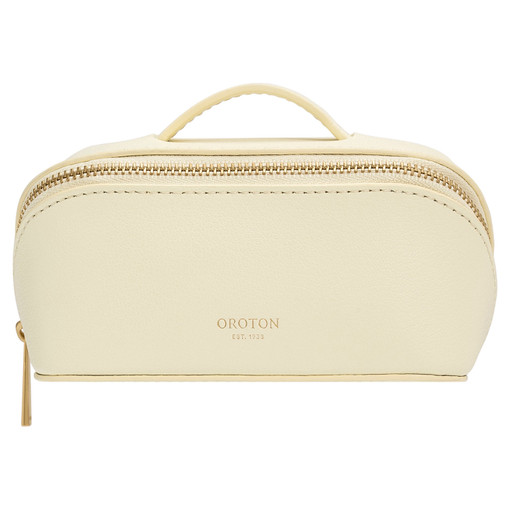 Oroton Avani Small Case in Pale Lemon and 60% off-cut leather fibres, 30% vegetable origin, 10% synthetic for female