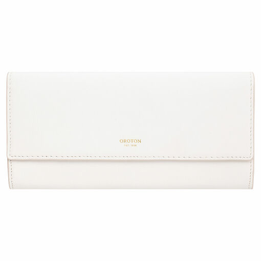 Oroton Luna Bifold Wallet in Pure White and Smooth Leather for female