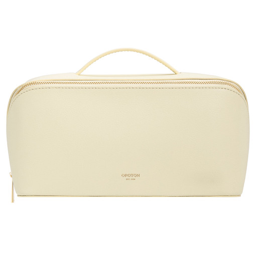 Oroton Avani Large Case in Pale Lemon and 60% off-cut leather fibres, 30% vegetable origin, 10% synthetic for female