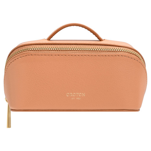 Oroton Avani Small Case in Treacle and 60% off-cut leather fibres, 30% vegetable origin, 10% synthetic for female