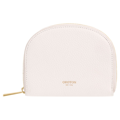 Oroton Daria Small Arc Wallet in Pure White and Pebble Leather for female