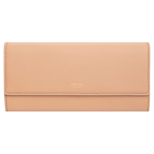 Oroton Luna Bifold Wallet in Praline and Smooth Leather for female
