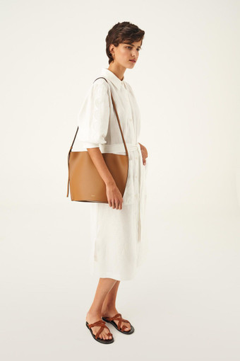 Oroton Aimee Bucket Bag in Dark Rye and Smooth Leather for female
