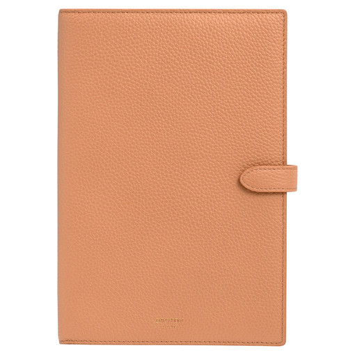 Oroton Jude A5 Notebook Cover in Treacle and Pebble Leather for female