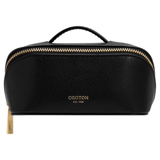 Oroton Avani Small Case in Black and 60% off-cut leather fibres, 30% vegetable origin, 10% synthetic for female
