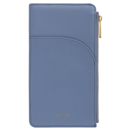 Oroton Charlie Phone Pouch in Cornflower and Smooth Leather for female