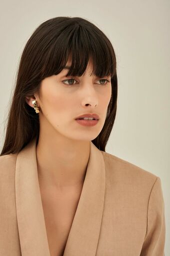 Oroton Cuba Clip On Earrings in Gold and Brass Based Metal With Precious Metal Plating for female