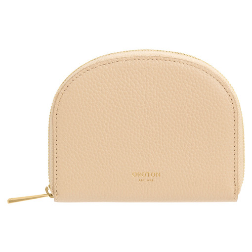 Oroton Daria Small Arc Wallet in Light Sand and Pebble Leather for female