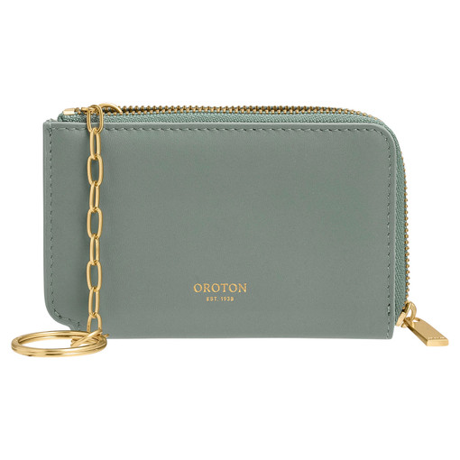 Oroton Charlie Key Holder in Sage and Smooth Leather for female