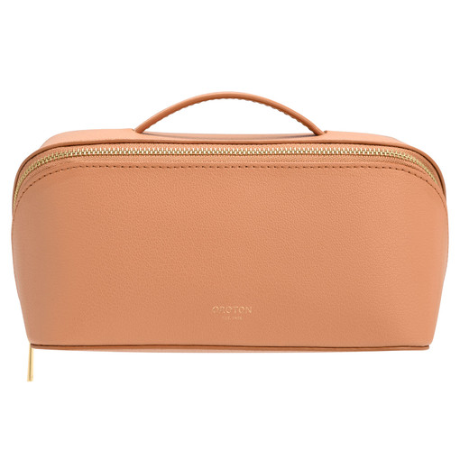 Oroton Avani Medium Case in Treacle and 60% off-cut leather fibres, 30% vegetable origin, 10% synthetic for female