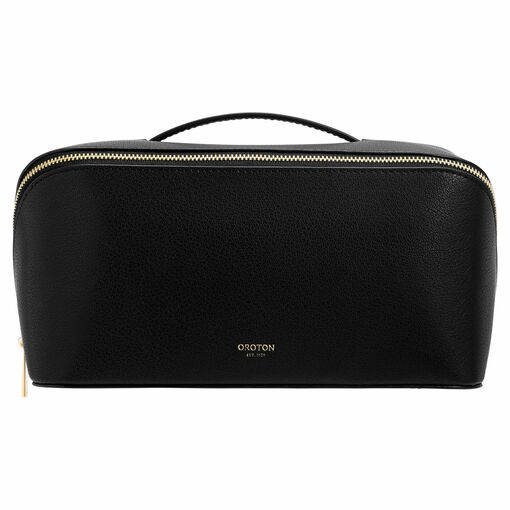Oroton Avani Large Case in Black and 60% off-cut leather fibres, 30% vegetable origin, 10% synthetic for female